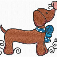 Cute Dachshund Daschuond Doxie Dogs Machine Embroidery Designs Set of 10 - Embroidery Designs By AVI