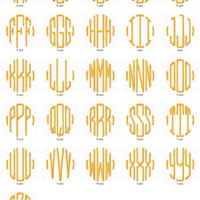 Classic Circle Machine Embroidery Monogram Fonts Designs Set - Embroidery Designs By AVI