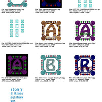 Bold Dots Machine Embroidery Monogram Fonts Design Set - Embroidery Designs By AVI