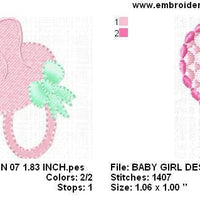Baby Girl Monogram Fonts and Machine Embroidery Designs Set - Embroidery Designs By AVI