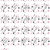 Fancy Fonts and Dots Monogram Machine Embroidery Designs Set - Embroidery Designs By AVI