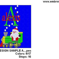 Christmas Santa Train Machine Embroidery Monogram Fonts Design Set - Embroidery Designs By AVI