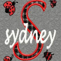 Ladybug Girl Monogram Fonts Machine Embroidery Designs Set - Embroidery Designs By AVI