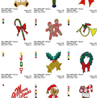 Christmas Variety Machine Embroidery Designs ds1 - Set of 14 Instant Download Sale - Embroidery Designs By AVI