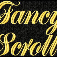 Fancy Scroll Script Machine Embroidery Monogram Font Set - Embroidery Designs By AVI