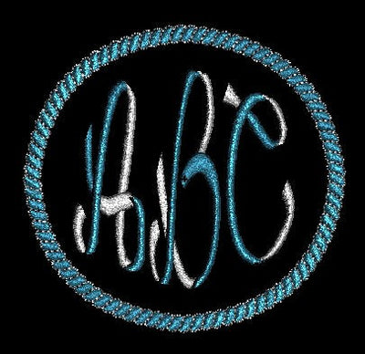 Two 2 Color Ribbon Style Machine Embroidery Monogram Fonts Designs Set - Embroidery Designs By AVI