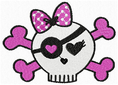 Halloween Girl Skull n Bones Star Crown Embroidery Design Set of 10 - Embroidery Designs By AVI
