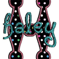 Applique Dots Alphabet Machine Embroidery Monogram Fonts Design Set - Embroidery Designs By AVI
