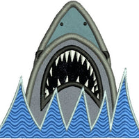 Jaws Shark Applique Machine Embroidery Design - Embroidery Designs By AVI