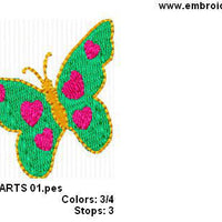 Butterfly Butterflies Hearts I Machine Embroidery Design - Embroidery Designs By AVI
