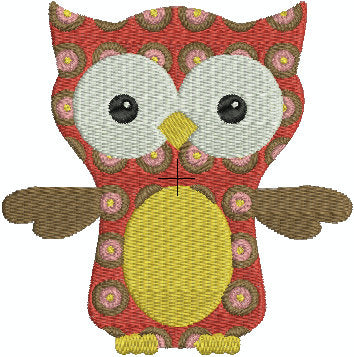 Owl with Polka Dots polkadots Kids Baby Machine Embroidery Design 4x4 Hoop  Instant Download Sale - Embroidery Designs By AVI