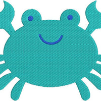 Cute Crab with fill Machine Embroidery Design - Embroidery Designs By AVI