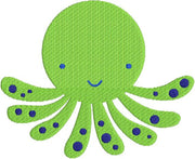 Octopus with fill Machine Embroidery Design - Embroidery Designs By AVI