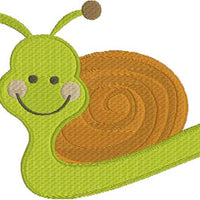 Cute Kids Snail Machine Embroidery Design - Embroidery Designs By AVI