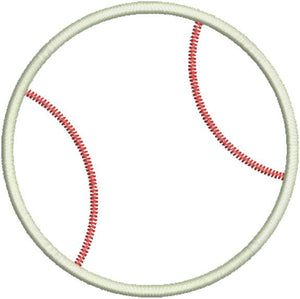 Baseball Applique I Machine Embroidery Design - Embroidery Designs By AVI