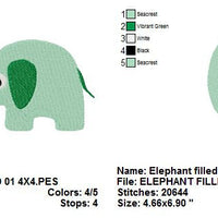Baby Elephant Machine Embroidery Design - Embroidery Designs By AVI