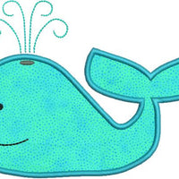 Whale I Applique Machine Embroidery Design - Embroidery Designs By AVI