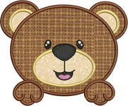 Cute Baby Bear Face Applique Machine Embroidery Design - Embroidery Designs By AVI