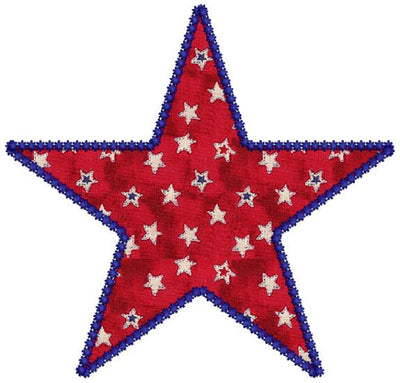 Star Applique Machine Embroidery Design - Embroidery Designs By AVI