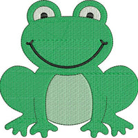 Cute Frog Machine Embroidery Design - Embroidery Designs By AVI