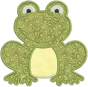 Applique Frog Toad Machine Embroidery Design - Embroidery Designs By AVI