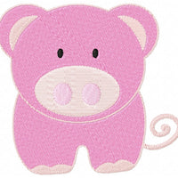 Cute Farm Pig Machine Embroidery Design - Embroidery Designs By AVI
