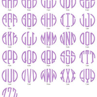 Circle 3 Three Letter Machine Embroidery Monogram Fonts Design Set - Embroidery Designs By AVI