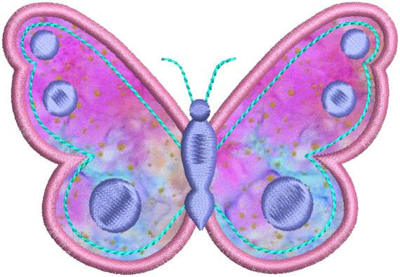 Applique Butterfly Machine Embroidery Design - Embroidery Designs By AVI