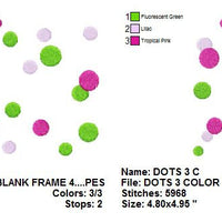 Polka Dot polkadots Frame Machine Embroidery Design - Embroidery Designs By AVI