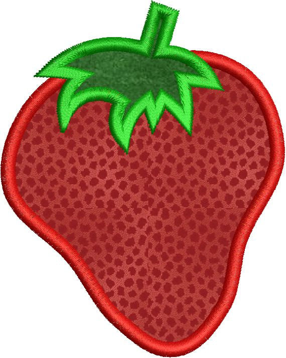 Strawberry Applique Machine Embroidery Design - Embroidery Designs By AVI