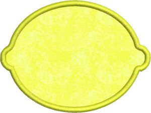 Lemon or Lime Applique Machine Embroidery Design - Embroidery Designs By AVI