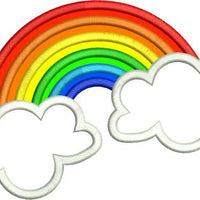 Applique Rainbow and Clouds Machine Embroidery Design - Embroidery Designs By AVI