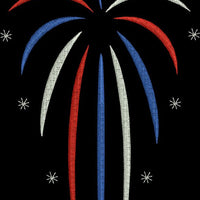 Fireworks Fourth 4th of July Machine Embroidery Design - Embroidery Designs By AVI