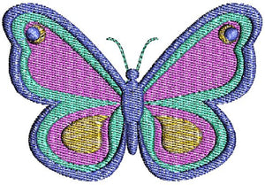 Pretty Butterfly with fill Machine Embroidery Design - Embroidery Designs By AVI