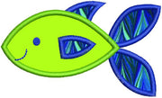 Applique Fish Machine Embroidery Design - Embroidery Designs By AVI