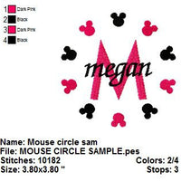 Mickey Mouse Circle Alphabet Monogram Fonts Machine Embroidery Designs - 4x4 Hoop Instant Download Sale - Embroidery Designs By AVI