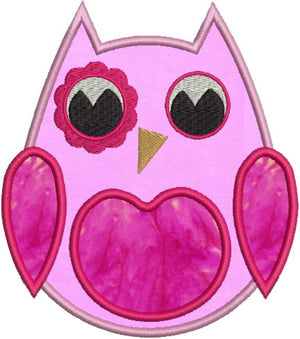 Sweet Owl Applique Machine Embroidery Design - Embroidery Designs By AVI