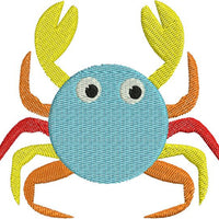 Colorful Crab with fill Machine Embroidery Design - Embroidery Designs By AVI