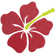 Hawaiian Hibiscus Flower Machine Embroidery Design - Embroidery Designs By AVI