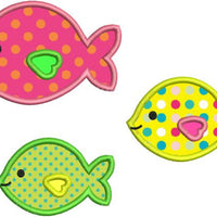 Cute Applique Fish Group Machine Embroidery Design - Embroidery Designs By AVI