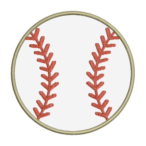 Baseball Applique II Machine Embroidery Design - Embroidery Designs By AVI