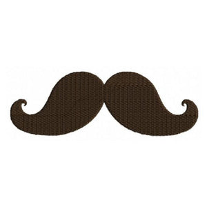 Mustache Moustache Machine Embroidery Design - Embroidery Designs By AVI