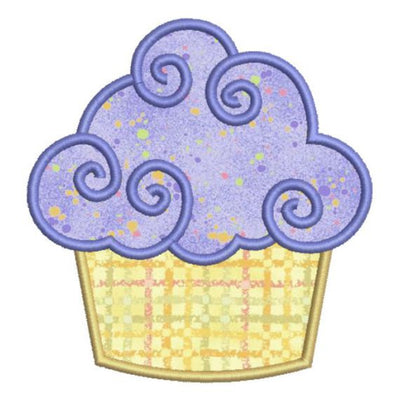 Applique Birthday Cupcake II Machine Embroidery Design - Embroidery Designs By AVI