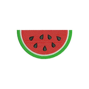 Watermelon Slice with fill Machine Embroidery Design - Embroidery Designs By AVI