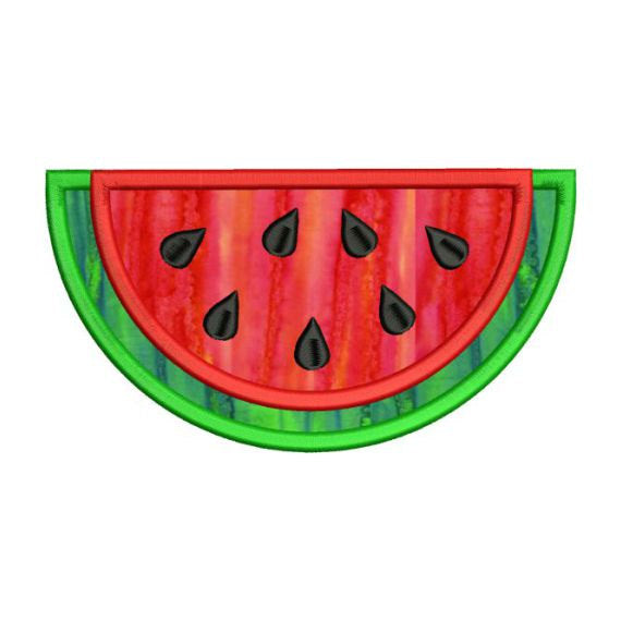 Applique Watermelon Slice Machine Embroidery Design - Embroidery Designs By AVI