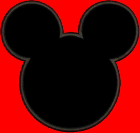 Applique Mickey Mouse Outline Machine Embroidery Design - Embroidery Designs By AVI