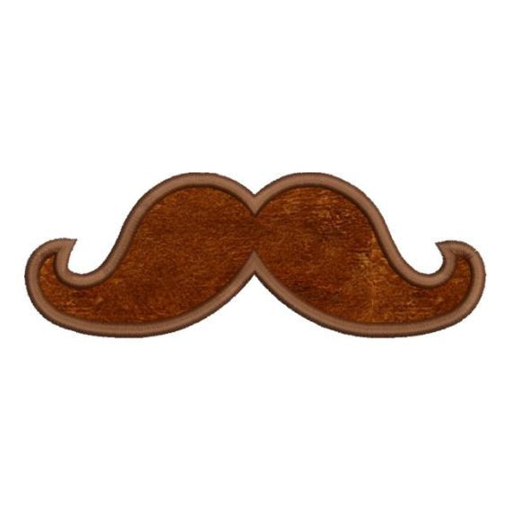 Mustache Moustache Applique Machine Embroidery Design - Embroidery Designs By AVI