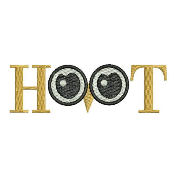 Owl Eyes Hoot Saying Machine Embroidery Design Embroidery Designs