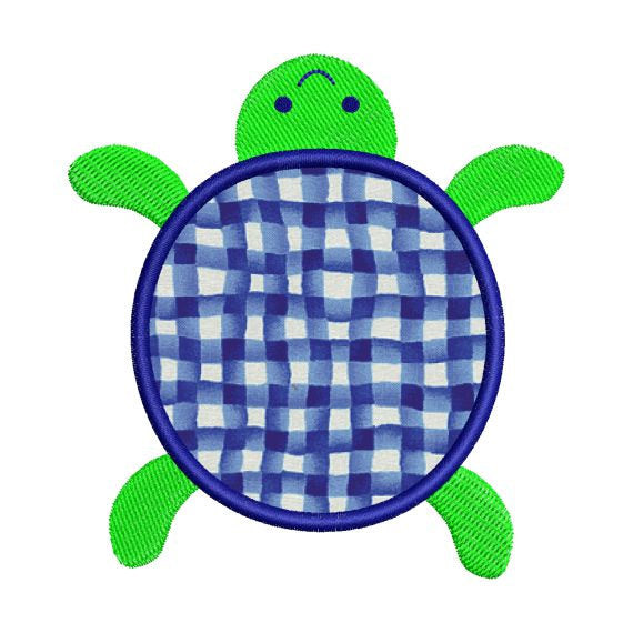 Turtle Applique Machine Embroidery Design - Embroidery Designs By AVI