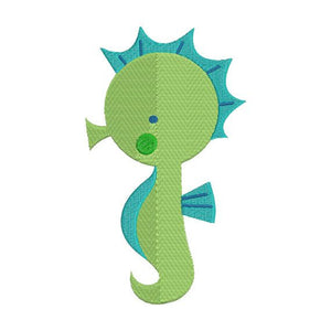 Seahorse Sea Horse Machine Embroidery Design - Embroidery Designs By AVI